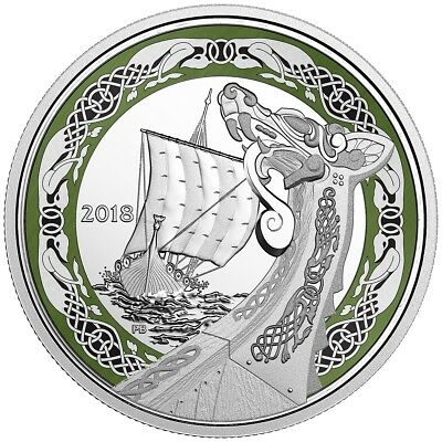 NORSE FIGUREHEADS: NORTHERN FURY - 2018 $20 1 oz Fine Silver Coin - RCM