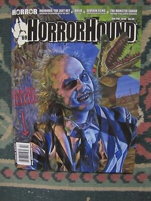 Horror Hound # 69 Uncirculated   Beetle Juice & The Monster Squad