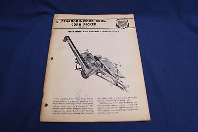 Vintage 1957 Dearborn-Wood Bros Corn Picker Operating & Assembly Manual Ford