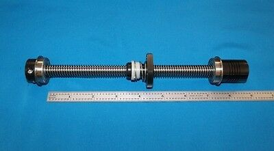 "6"" acme leadscrew 1/2-10 with delrin nut, bearings, clamp coupler for CNC router"
