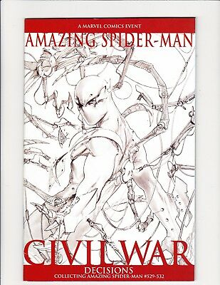 Amazing Spiderman Civil War Decisions 529 530 531 532 Retrint Dell Otto Sketch