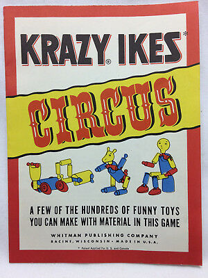 Vtg Whitman Publishing Co Krazy Ikes Circus Instruction Pamphlet Only Racine WI