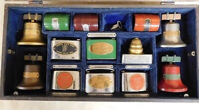 Vtg Lot of 13 SALESMAN SAMPLE Advertising COIN BANKS for MN-IA-OH-+MORE (TH827)