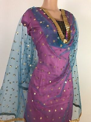 $9.99 Party Wear Dupatta designer work Indian  Scarf Match any Dress Suit