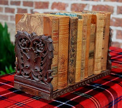 Antique French Black Forest Oak Table Desktop Book Stand Book Holder Book Slide