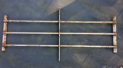 Mid Century Modern Wrought Iron Window Guard Security Bars Steampunk