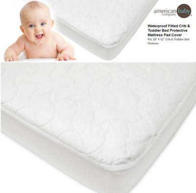 Toddler Mattress Cover Waterproof Fitted Crib Pad Baby Bedding Girl Boy Kid NEW