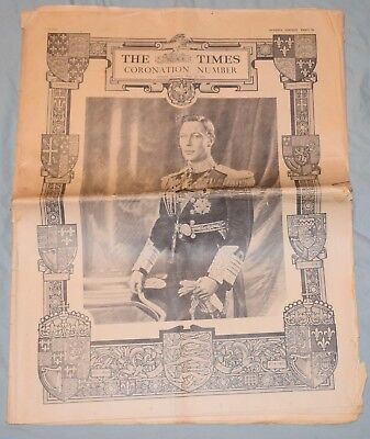 May 11, 1937 Coronation of King George VI The Times London Newspaper Large Issue