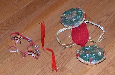 BREYER HORSE Model Accessories - Christmas Baskets, harness, bridle