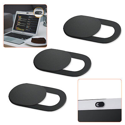 Webcam Cover 0.03in Ultra-Thin Web Camera Cover 3 Pack for Laptop PC Phone Black