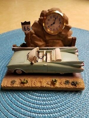 1959 Cadillac Convertible on Route 66 Desk Clock