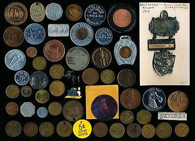 53 Old Usa Good Fors, Medals, Pins, Tokens + More (Must See Images) No Reserve