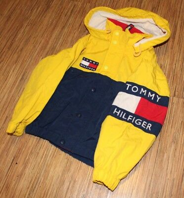 Vintage Tommy Hilfiger Kids Women's 7 XS Rare Flag Spellout