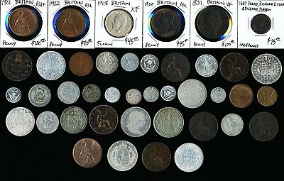 41 Old Britain & Ex-Colony Coins (Very Collectible Must See) No Resersve