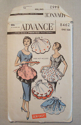 Vintage Advance Womens Sewing Pattern Half Apron 8462 One Size COMPLETE