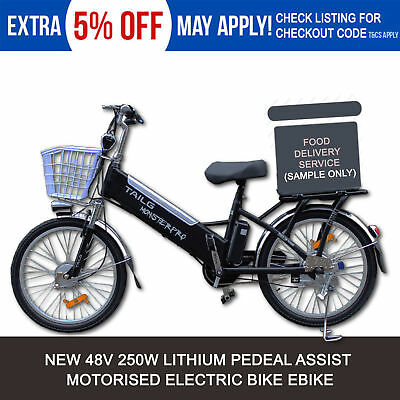 NEW 48V 250W Road Electric Bicycle Bike eBIKE BIKE Uber Food Delivery Scooter