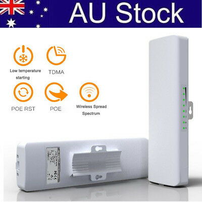 AU! Outdoor Wireless Wifi AP Bridge Router High Power Extender Booster POE