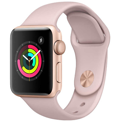 Apple Watch Series 3 38MM GPS Gold with Pink Sport Band MQKW2LL/A