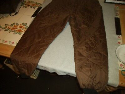 Mens Vintage Sears Ted Williams Brown Winter Snow Pants Xl Hunting Fishing Camp