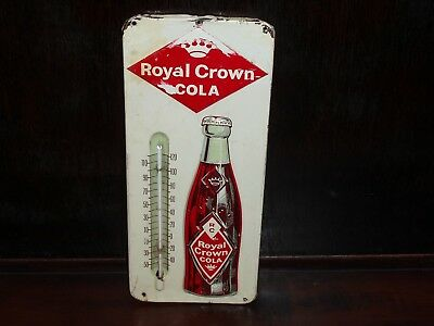 Nice Royal Crown Cola Thermometer With Embossed Bottle