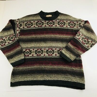 Woolrich 80 Wool Sweater Mens Medium Multi Color Made In The Usa