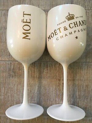 Moet & Chandon Acrylic Goblets (2) RARE
