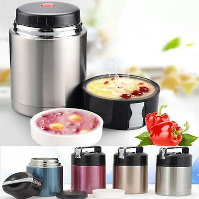 Vacuum Lunch Box Container Stainless Steel Food Thermos Jar Double Insulated new