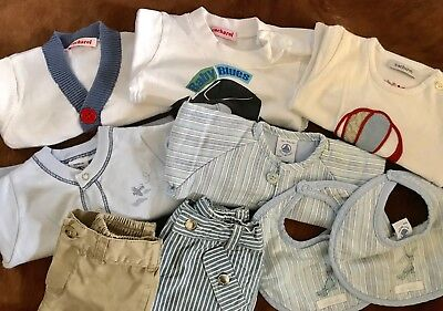 Baby Boys Bundle Of Designer Clothes Age: 1-3mths Jacadi, Cacharel, Ralph Lauren