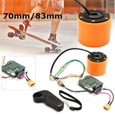 70mm 83mm Electric Skateboard Accessory Brushless Wheel Hub Motor And Controller