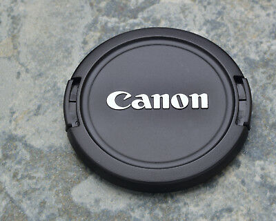 Canon EOS E 58mm Snap-On Front Lens Cap Chrome Logo 18-55 55-250 75-300 (#1448)