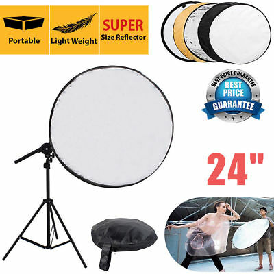 "60cm 24"" 5 in1 Multi Photo Disc Collapsible Light Reflector+Bag Photo Studio Set"