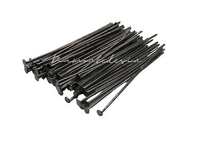 200 x 40mm Black Colour Head Pins Jewellery Findings Craft FREE UK P+P  S98