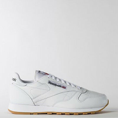 Reebok Men 49799 Classic Leather Running Shoes white Sneakers