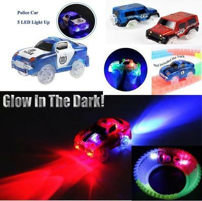 Police Cars for MAGIC TRACKS Glow in the Dark LED LIGHT CAR RACE Racetrack Toys