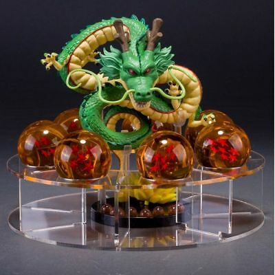 Green Dragon Dragon Ball Z Set Shenron +7pcs Dragon Ball +Display Stand 3.5CM