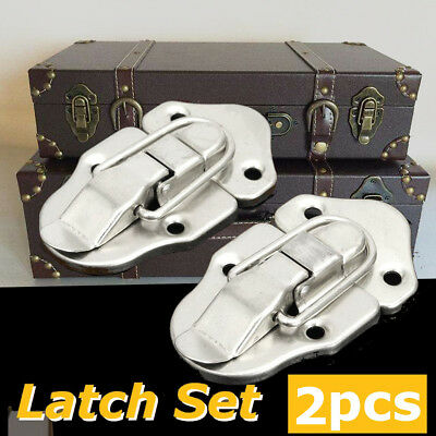 2PCS Guitar Hasp Latch Lock Instrument Case for Latches Box Buckles Screws 6429A