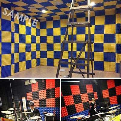 50*50 Acoustic Soundproof Sound Stop Absorption Pyramid Studio Foam Board 2018