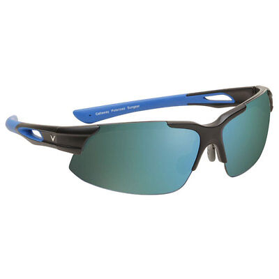 2017 Callaway Peregrine Sunglasses Matte Black/Matte Blue Gray/Green Mirror NEW