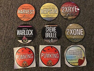 Pack of 9 Southern Tier Brewing Beer Stickers Decals Pumking