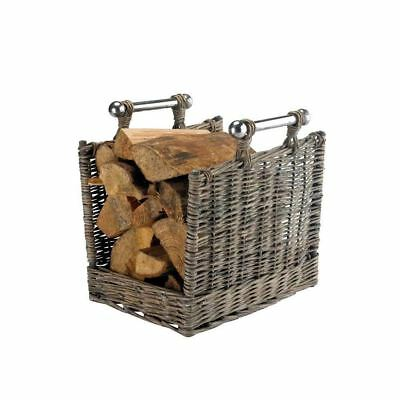 Willow Log Carrier Fireplace accessory