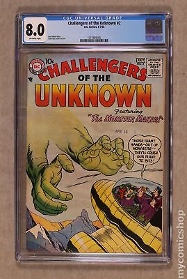 Challengers of the Unknown (DC 1st Series) #2 1958 CGC 8.0 1215989005