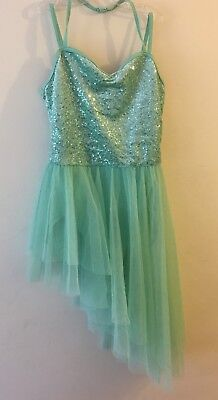 Dance Dress. Ballet Costume. Holiday. Adult Small. Mint Color