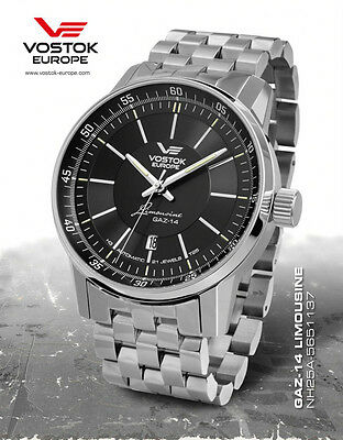 Vostok-Europe GAZ-14 Limo Watch 8215-5651137 Automatic