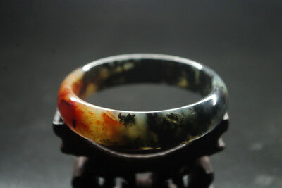 Collect old Chinese antique red blood jade carved jade bracelet bangle YQ-217