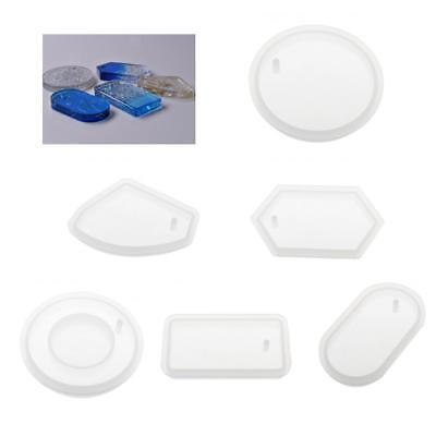 Silicone Pendant Mould Mold for Resin Casting Necklace Jewelry Pendant Making