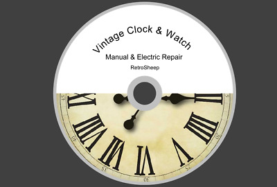 VINTAGE CLOCK  & WATCH REPAIR GUIDES  FOR  ELECTRIC AND MANUAL CLOCKS  #Clocks