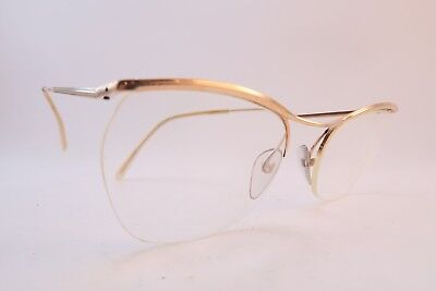 Vintage 50s eyeglasses frames gold filled supra NYLOR Doublé Or Laminé France