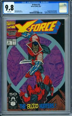 X-Force #2 CGC 9.8 White Pages 2nd Appearance of Deadpool