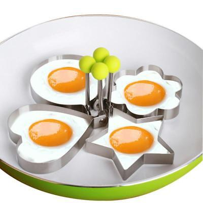 Frying Egg Pancake Ring Mold 4pcs Nonstick Cooking With Handles Stainless Steel