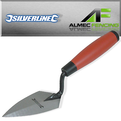 "125mm / 5"" Soft Grip Pointing Trowel Silverline"